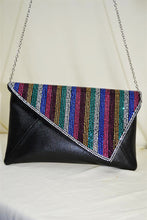 Clutch with Diagonal Flap