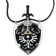 Dark Shade Master Sword & Shield Necklace