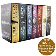"Game of Thrones 7 Volume Book Box-Set ""Song of Ice and Fire"" George R. R. Martin [ID: Z-X110]"