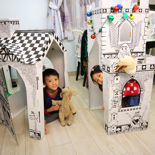 cardboard-castle-playhouse-with-kids