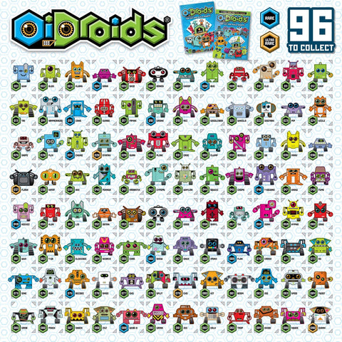 OiDroids-紙模型-機械人系列-Series 1-Pack of 15-Papercraft-Robot-Cards
