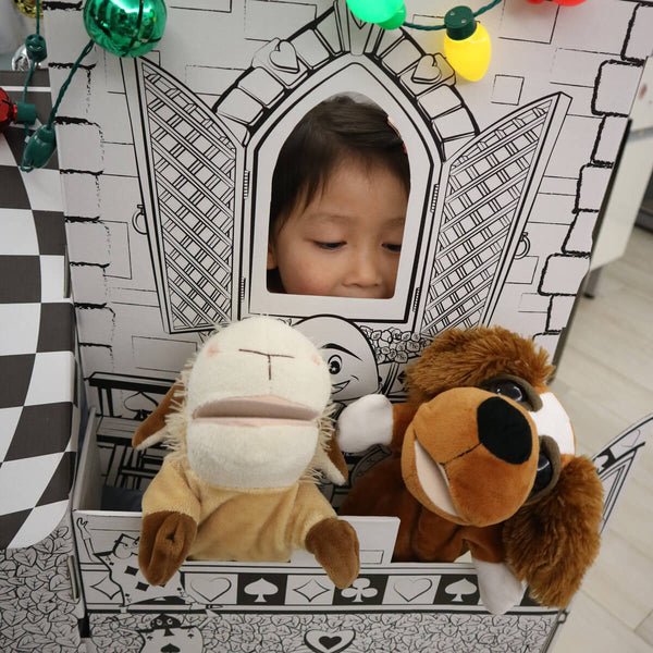 cardboard castle playhouse Puppet Theater