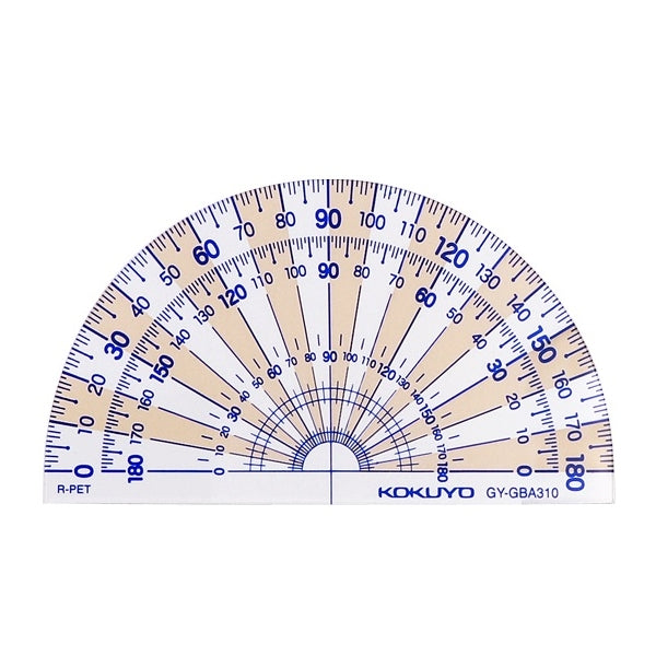Kokuyo 日本PET樹脂量角器   PET resin Protractor