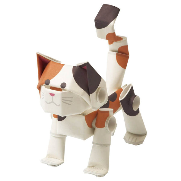 PIPEROID-動態-紙模型-日本-Animals Cat Calico-Paper Craft kit-Japan