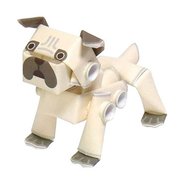 PIPEROID-動態-紙模型-日本-Animals Dog Pug-Paper Craft kit-Japan