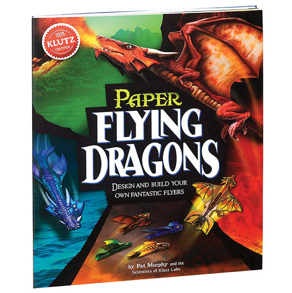 DIY-紙恐龍-手工藝套裝書-Klutz-Paper Flying Dragons-Craft Kit