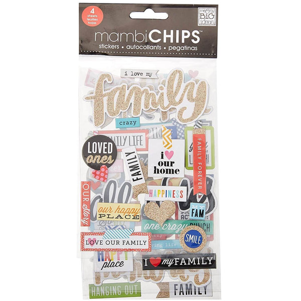 Me & My Big Ideas-貼紙-Chipboard Value Pack-I Love My Family