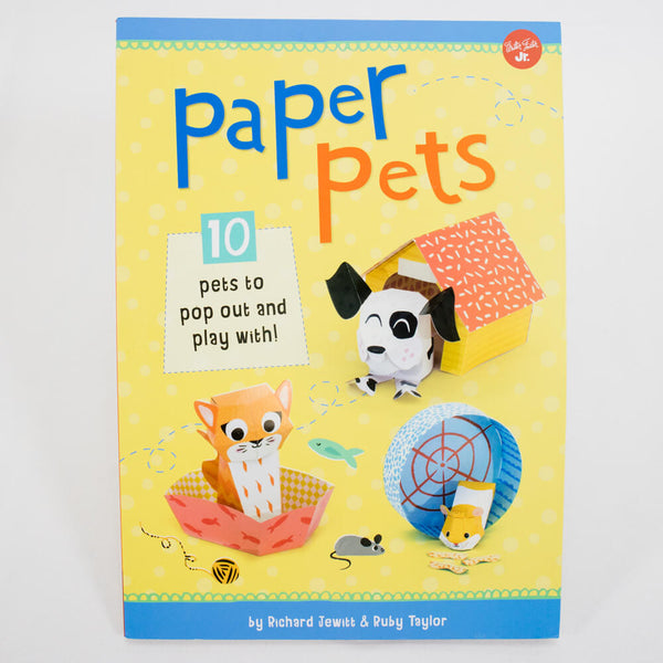 DIY-紙寵物-手工藝套裝書-Walter Foster-Paper Pets-10 pets to pop out and play with!