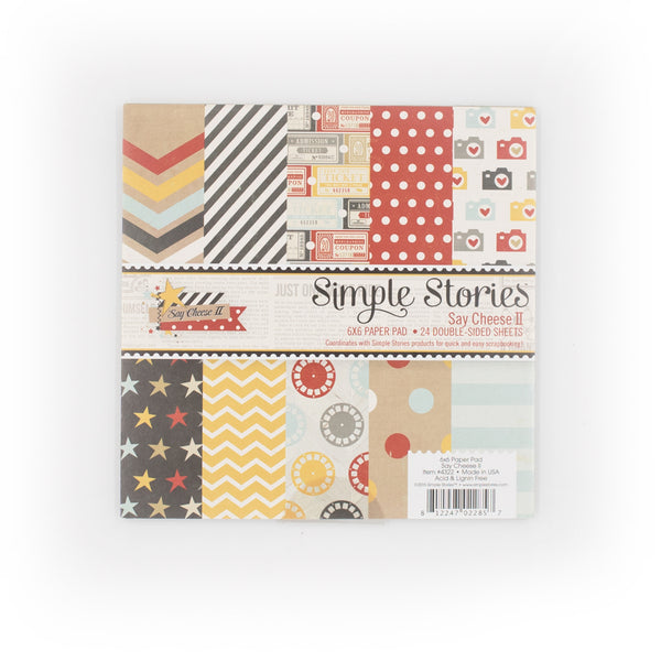 "Simple Stories 美編紙 #4322 Say Cheese II, 24 Double-Sided Sheets, 6"" x 6"""