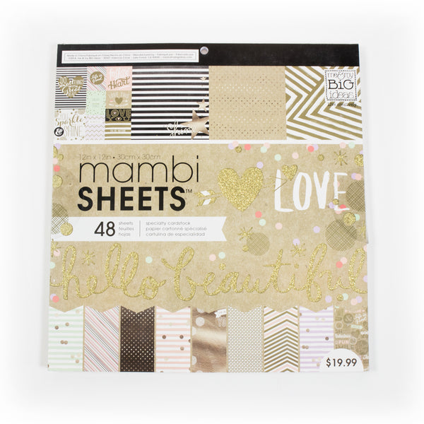 "Me & my BIG ideas 美編紙 Gold Rush Mambi Sheets, 48 Sheets, 12"" X 12"""