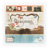 DCWV-Premium Stacks, Mariposa Matstack with Glitter and Foil-Cardstock-Scrapbook