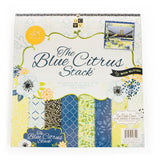 DCWV-Premium Stacks, Blue Citrus with Glitter-Cardstock-Scrapbook