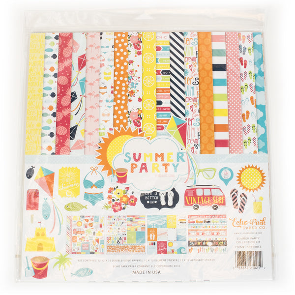 Echo Park Paper Company SP106016 Summer Party Collection Kit