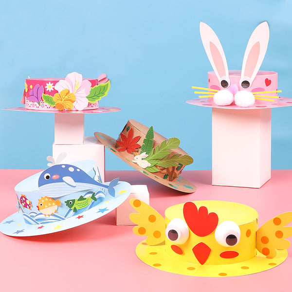 復活節-兒童-DIY-紙帽-小手工-DIY-Easter-Paper-Hat-Craft