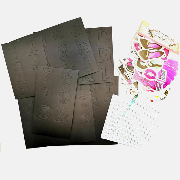 FaCraft-咭紙切模-Scrapbooking Ephemeras and Die Cuts-50 pcs Girls,Fashion
