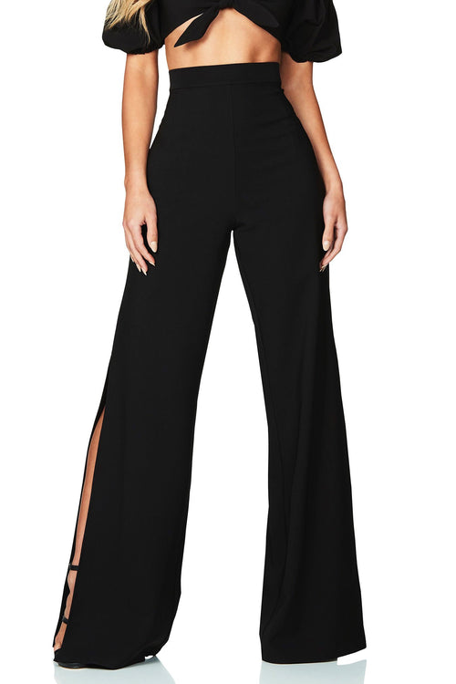Belle High Waisted Pant - Black