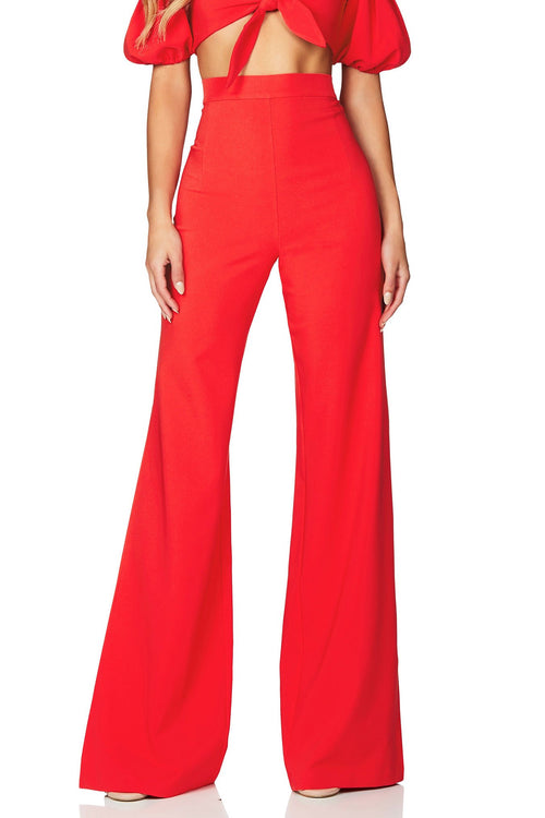 Belle High Waisted Pant - Cherry