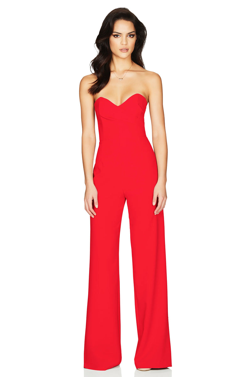 Bisous Jumpsuit - Red