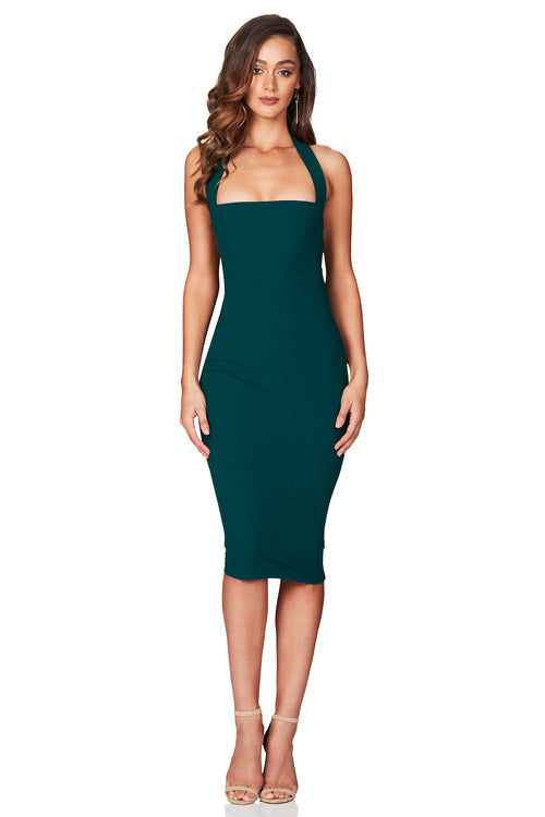 Boulevard Halter Dress - Teal