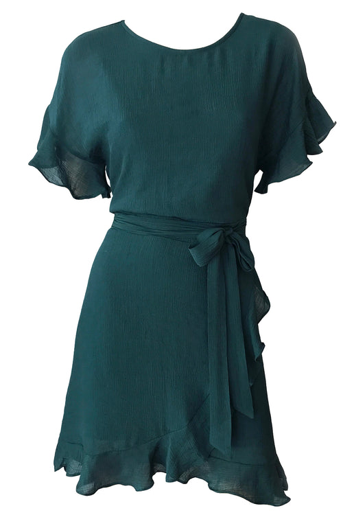 Avril Wrap Dress - Teal