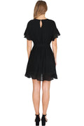 Avril Wrap Dress - Black