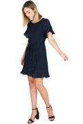 Avril Wrap Dress - Navy