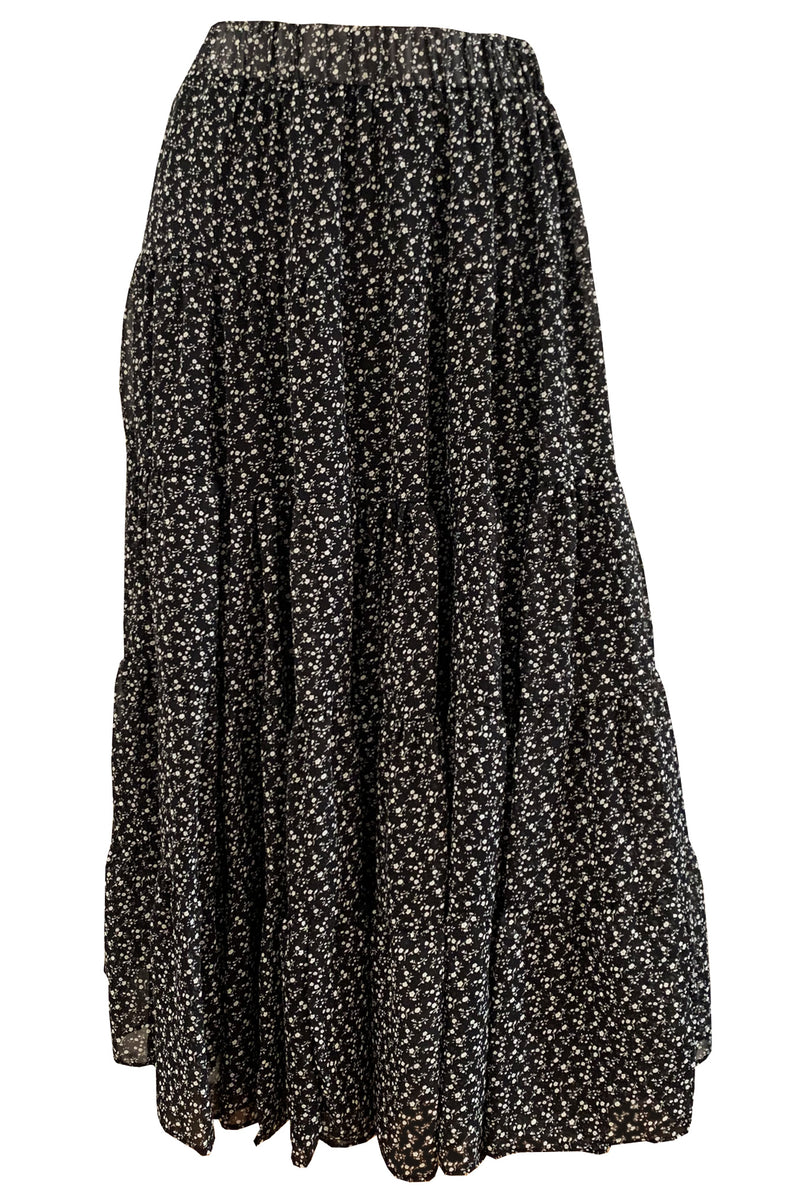 Jacquie Midi Skirt - Black