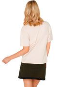 Apero Embroidered Tee - Beige