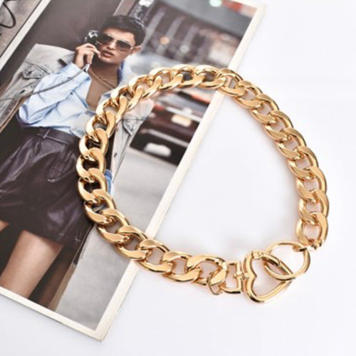 Chain Link Lover Necklace - Gold