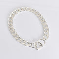 Chain Link Lover Necklace - Silver
