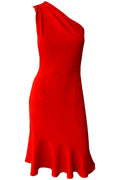 Chrissy One Shoulder Dress - Red