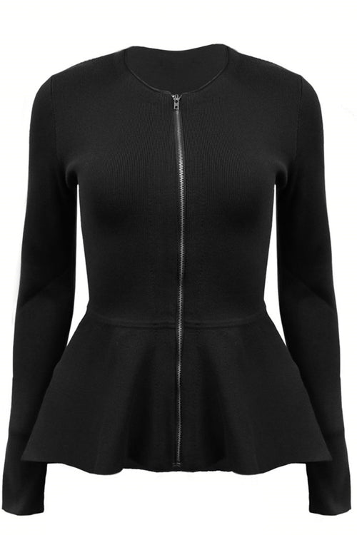 Estelle Zip Peplum Jacket