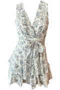 Flora Playsuit - Navy Floral