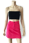 Margot Corduroy Skirt - Hot Pink