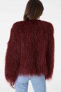 Marmont Faux Fur Jacket - Burgundy