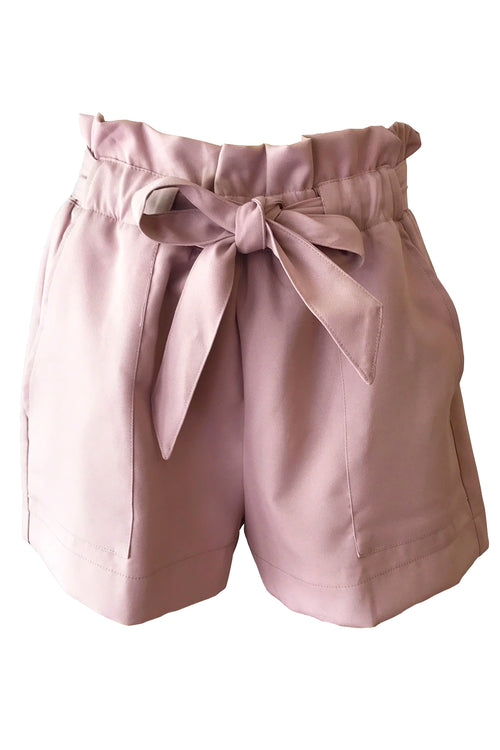 Paper Waist Shorts - Blush - BACK IN STOCK