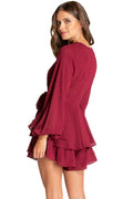 Pixie Playsuit - Wine