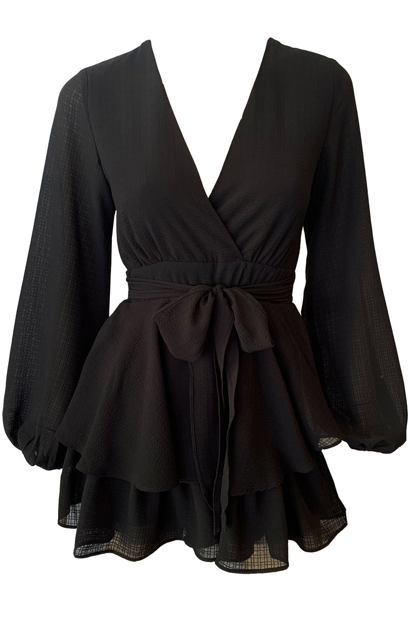 Pixie Playsuit - Black