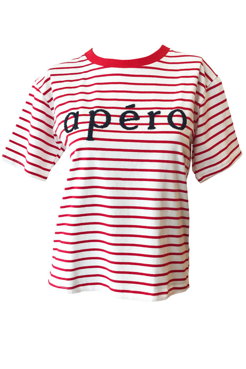 Apero Stripe Beaded Tee