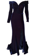 Veronica Velvet Gown - Navy