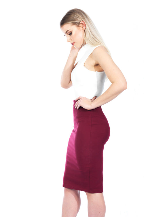 Work It Skirt - Burgundy