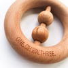 Natural Beech Wood Rattle Teether