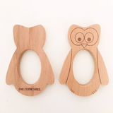 Owl Beech Wood Teether