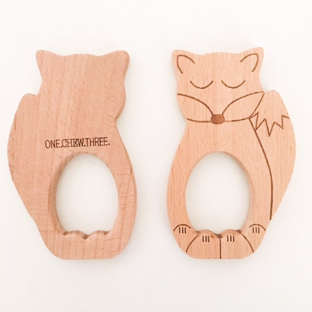 Fox Beech Wood Teether
