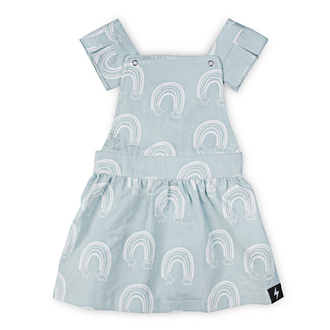 Rainbow Chambray Pinafore
