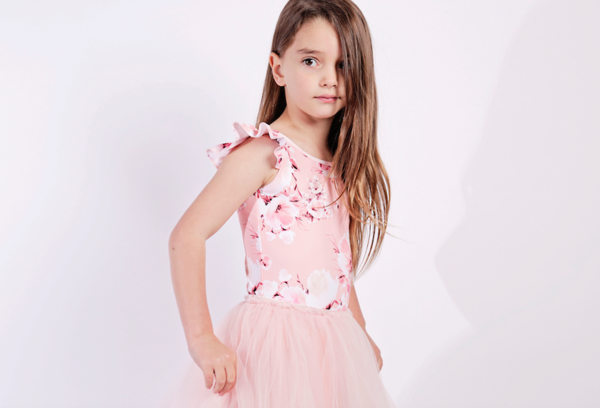 Pink Blossom Luxe Frill Leotard