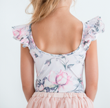 Pink Rose Luxe Double Frill Leotard