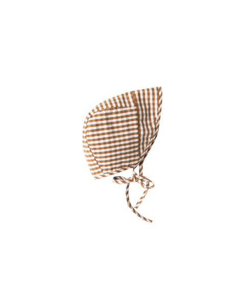 Bonnet - Gingham - Saddle / Ivory