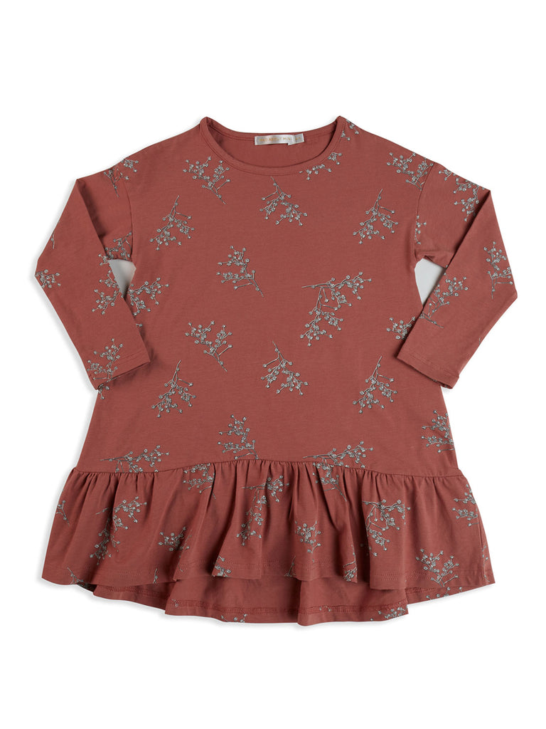 Floral Long Sleeve Swing Frill Dress (2 left size 4-5 years)