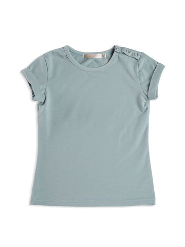 Plain Rolled Sleeve T-Shirt